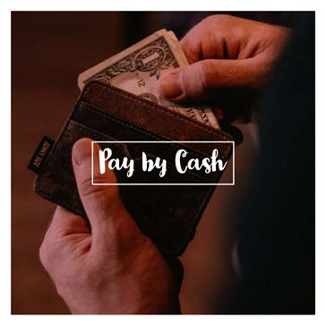 Pay by Cash