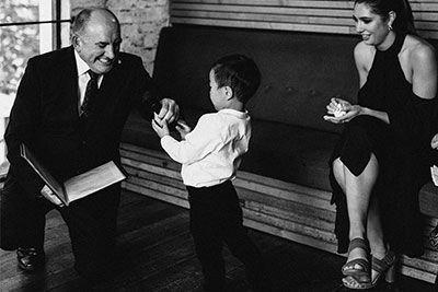 marriage celebrant candid moment with boy