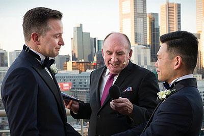 gay wedding ceremony in melbourne