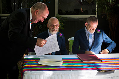 Gay marriage legal ceremony in Melbourne