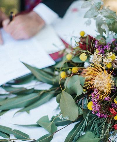 gay wedding signing ceremony