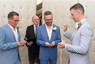 same sex wedding ceremony in Melbourne