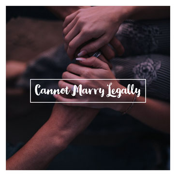 cannot marry legally commitment ceremony