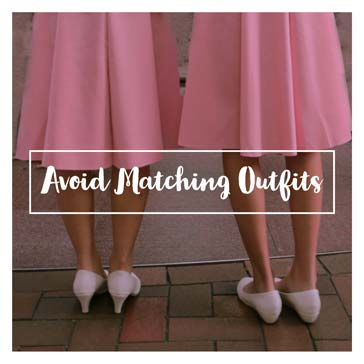 Avoid Matching Outfits