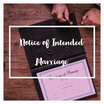 Notice of Intended Marriage