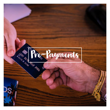 Pre-payments