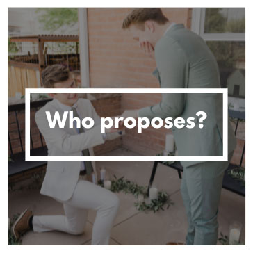 who proposes in LGBTIQ wedding